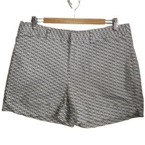 CATHERINE MALANDRINO Black & White Abstract Shorts